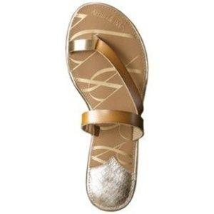 Sam & Libby 'Karina' brown and gold sandals
